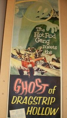 ORIGINAL HOT ROD GANG GHOST OF DRAG STRIP HOLLOW INSERT POSTER 1950's TEEN