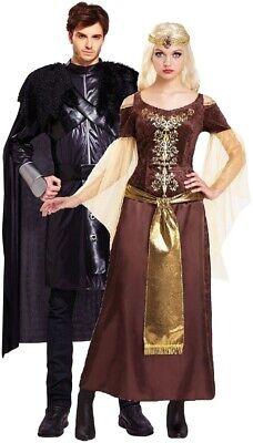 Paar Damen & Herren Mittelalterlich Feuer Eis Königin König Kostüm - Alt Paar Kostüm