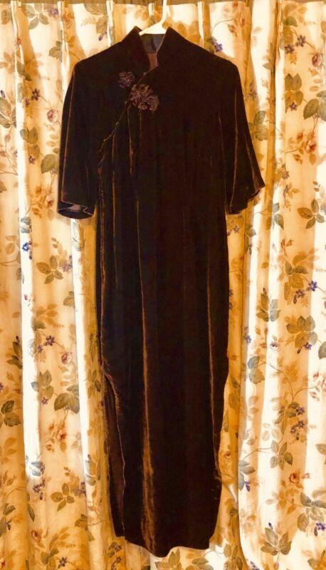 Traditional Oriental dress Velvet  Chinese Cheongsam Qipao