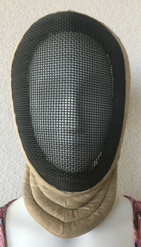 Vintage Fencing Mask Helmet Equipment Metal Wire Mesh Distressed Decor Jousting