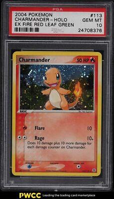 2004 Pokemon EX Fire Red Leaf Green Holo Charmander #113 PSA 10 GEM MINT