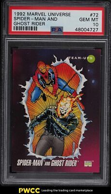 1992 Marvel Universe Ghost Rider Spider-Man 72 PSA 10 GEM MINT - $6.50