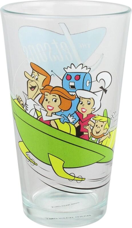 OOP RARE Jetsons Toon Tumbler 2013 Glass Hanna Barbera