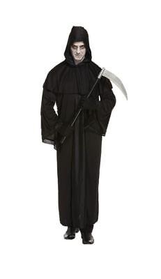Mens Adult Death Fancy Dress Costume Halloween Grim Reaper Horror