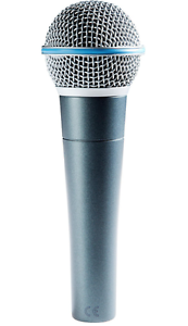 Shure Beta 58a Supercardioid Dynamic Microphone With High Output
