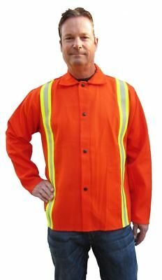 Tillman 6230drq Firestop Welding Jacket 30 9oz Reflective Orange