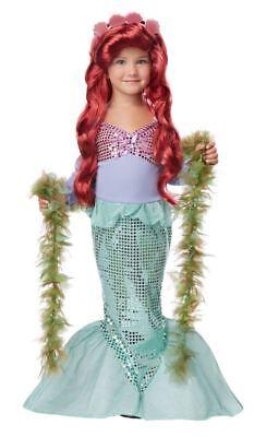 Lil' Mermaid Halloween Dress Up Play Costume Toddler 4-6