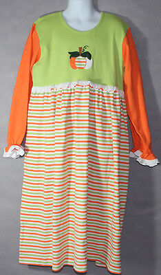 Halloween Colors Clothes (Boutique YOUNG COLORS Striped GREEN ORANGE PUMPKIN FALL Halloween DRESS 12)