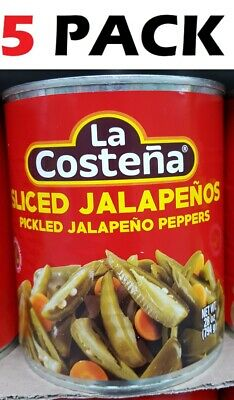 La Costena Sliced Pickled Jalapeno Peppers - 28 Oz ( 5 Pack ) No (La Costena Jalapeno)