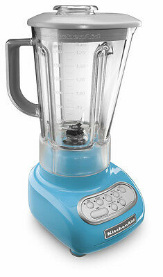 New Model KitchenAid Crystal Blue 5-Speed Blender ksb560cl w/Poly Unbreakble Jar