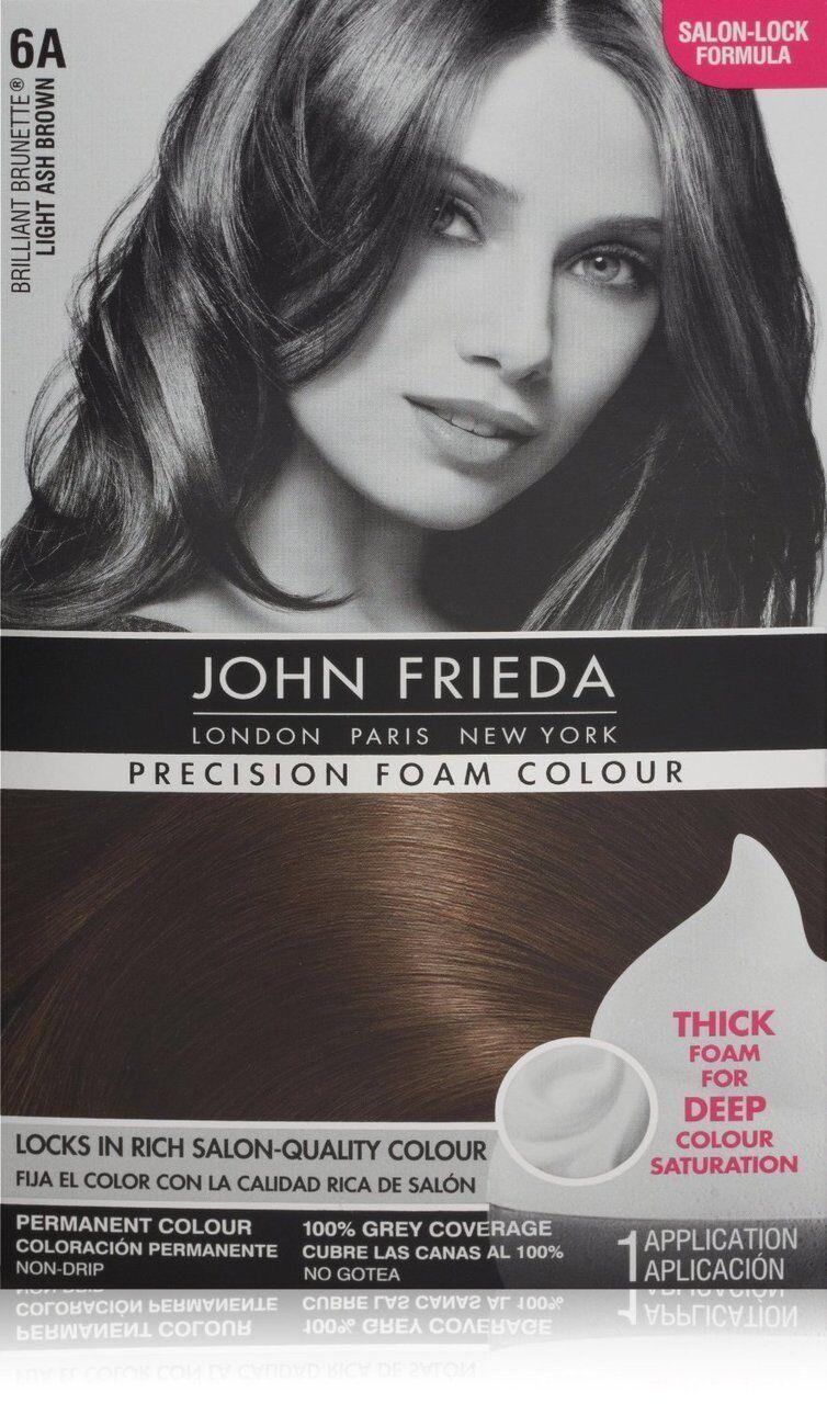 John Frieda Precision Foam Colour 6a Light Ash Brown Ebay