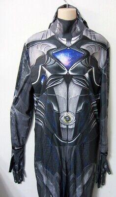 Power Ranger Full Costume (XL Adult BLACK POWER RANGER Skin Suit Bodysuit Jumpsuit FULL COVERAGE)