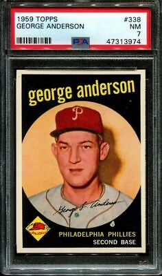 1959 TOPPS #338 GEORGE SPARKY ANDERSON RC HOF PSA 7 B2933008-974