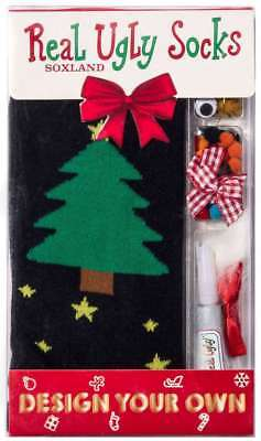 Real Ugly Socks Unisex Evergreen Christmas Tree Design Your Own Socks - NIB