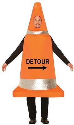 Herren Damen Orange Verkehrskegel Lustig Stag Party Festival Maskenkostüm