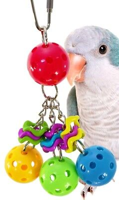01093 Jingleberries BIRD TOY parrot toys cages african lovebird conure budgies