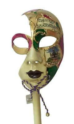 New Orleans French Quarter Venetian Stick Purple Ladies Prom Mask (New Orleans Halloween French Quarter)