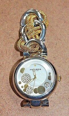 Akribos XXIV Two Tone Twist Chain Diamond Dial Women's Watch AK643TTG [05WEI]
