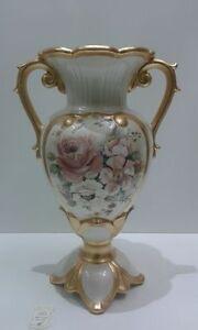 Anfora via veneto ceramica oro e fiori soprammobile arredo for Complementi d arredo via veneto