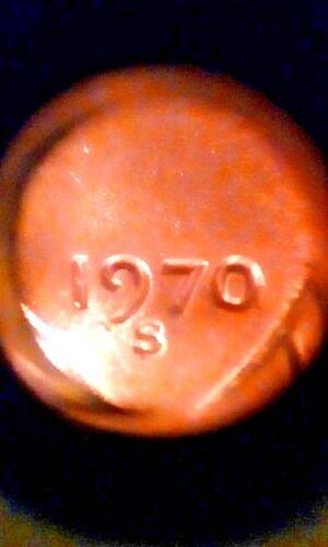 "Wonderful.1970-S  slightly higher ""O"" small date BU Lincoln cent - Bus. Strike"