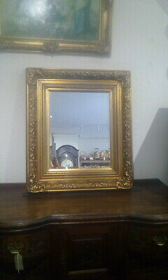 Large Antique Victorian Gold Bevelled Edge Mirror Heavy