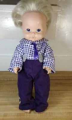 "Vintage 1969 Mattel Baby Tender Love Doll Drink and Wet Rubber 17"""