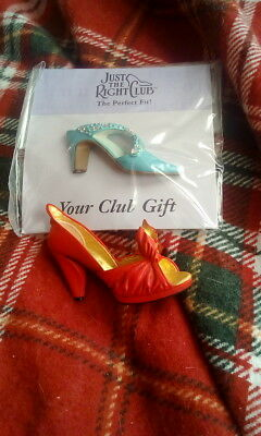 Just The Right Shoe Pin Badge new and club badge  both for 1.99