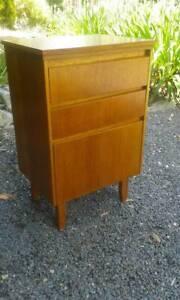*FuNkY* Mid Century Retro 2 Drawer plus 2 door Cabinet Bedside