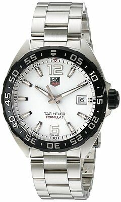Tag Heuer Formula 1 White Dial Steel Quartz Men Watch Carbide WAZ1111.BA0875