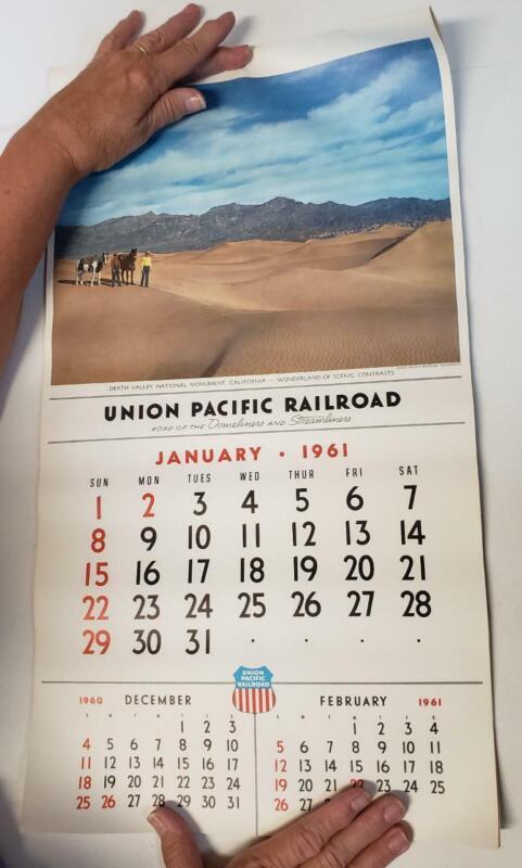 Union Pacific Large Wall Calendar 1961 e