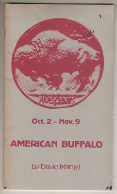 """Al Pacino  """"American Buffalo""""  Playbill  1980  Long Wharf Theatre  Clifton James"""