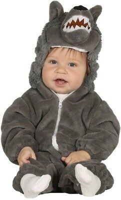 Baby Boys Girls Big Bad Wolf Animal Book Day Week Fancy Dress Costume Outfit