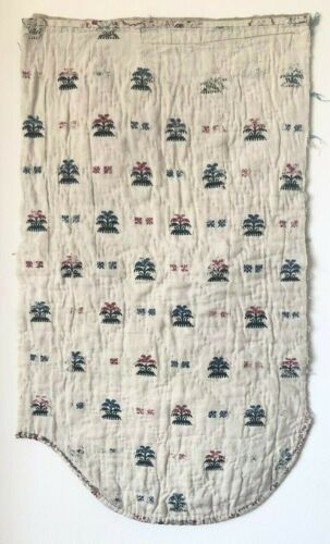 Beautiful Rare 18th C. French Quilted Embroidered Fabric  (2903)