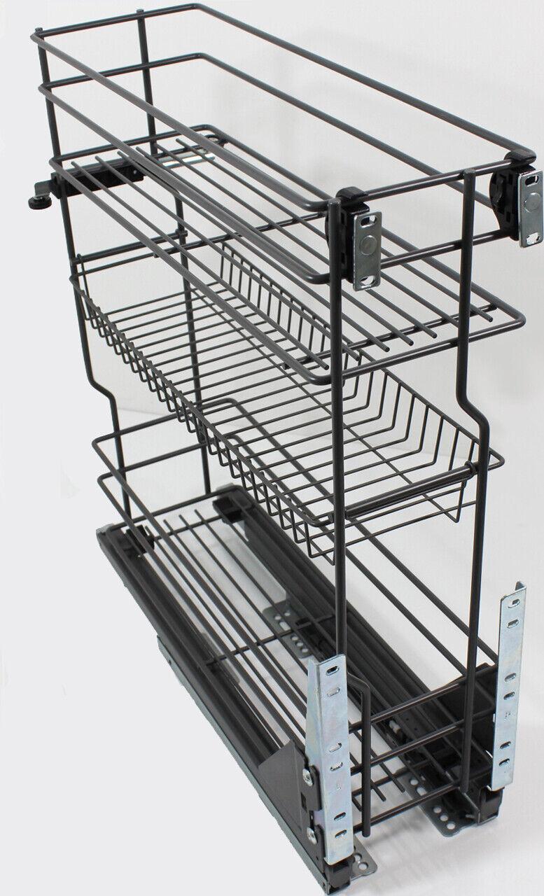Korb Schrankauszug Küchenunterschrank für Unterschränke 15 20 30 40 50 60cm #9