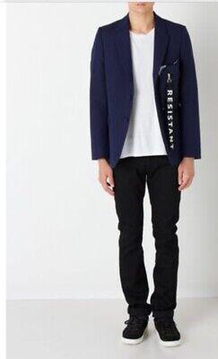 NWT Men's MATTHEW MILLER Resistant Dark Blue Jacket SZ L Cool Wool Rare $1400