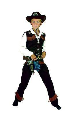 Kostüm Cowboy Komplett Kostüm Cowboy Weste und Chaps mit schwarzem Hut Gr. - Schwarze Cowboy Chaps & Weste Kostüm