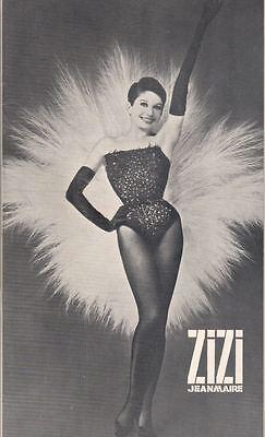 """Zizi Jeanmaire""  Broadway  Souvenir Program  1964  Felix Blaszka"