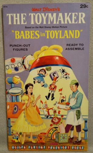 1961 TOYMAKER - ANNETTE in BABES in TOYLAND - FUNTIME PUNCH-OUT Book - UNUSED