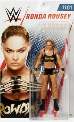 WWE Ronda Rousey Mattel Serie Basic 101 Wrestling Action Figure Nuovo Core Aew
