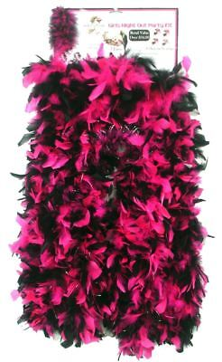 Hot Pink Girls Night Out 4 Feather Boa Tiara Bachelorette 13 Pc Party Kit  - Cheap Feather Boas Bulk