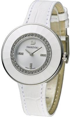 Swarovski White Leather - SWAROVSKI Crystal Octea Dressy White Leather Watch 5080504