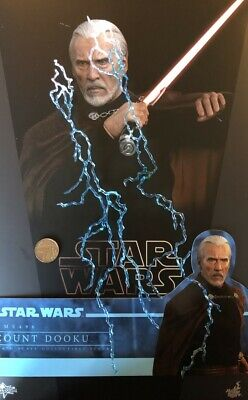 Hot Toys Star Wars AOTC Count Dooku MMS496 Lightening Effects loose 1/6th scale