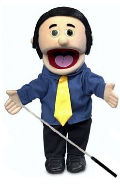 Silly Puppets George Glove Puppet Bundle 14 inch with Arm Rod