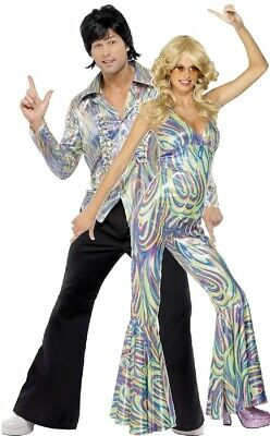 Couples Ladies AND Mens 70s Disco Party Fever Fancy Dress Costumes Outfits](70s Couples Costumes)