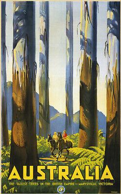 Australia 1931 Vintage Travel Marysville Advertising Giclee Canvas Print 20x32
