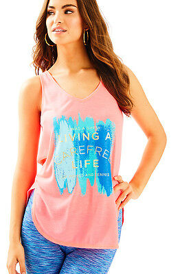 NWT Lilly Pulitzer Multi Carefree Brushstroke Graphic Brooke Tank, Sz M, $48