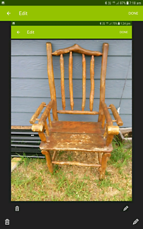 Timber tree log decorative arm chair  $30