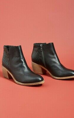Anthropologie Oruis Perforated Boot by Silent D Size 38 Black