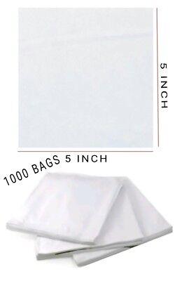 1000 PCS WHITE PAPER BAGS STRUNG 5