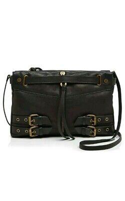Joelle Hawkens Nora  Crossbody Bag Clutch Black Soft Leather by Treesje  $250